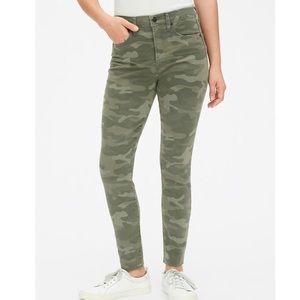 GAP Camo High Rise Skinny Ankle Jean sz 25 NWT!